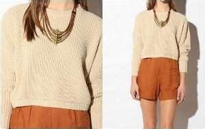 Tunik Blouse Wanita Lysa fitinline cropped sweater