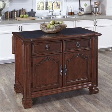 home styles americana kitchen island with granite top santiago kitchen island with granite top home styles
