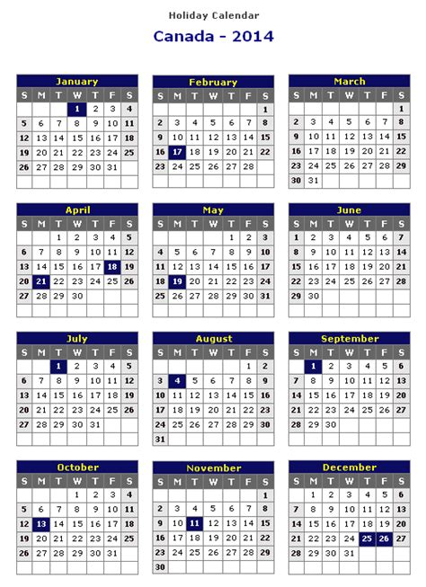 printable calendar 2014 canada 2014 calendar canada printable calendar