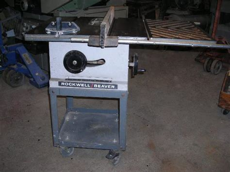 rockwell model 9 table saw rockwell beaver 9 inch table saw outside