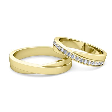custom infinity wedding bands for him and with
