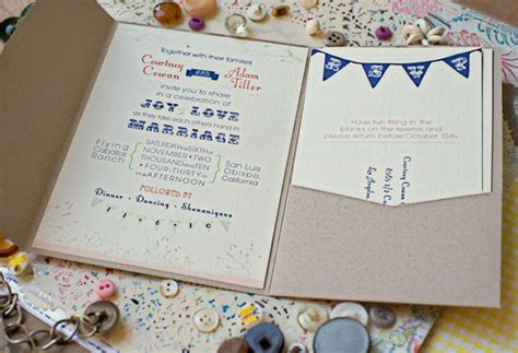 bunting wedding invitations diy real wedding adam s rainy diy ranch wedding