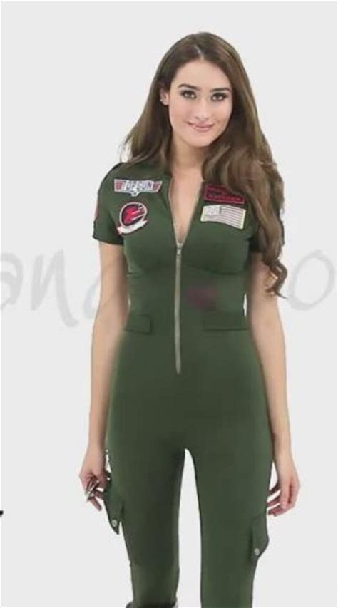 topgun women hairstyle sexy top gun flight suit costume top gun jumpsuit costume