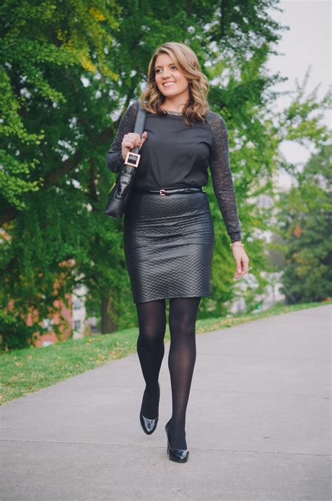 two ways to wear a leather skirt by m
