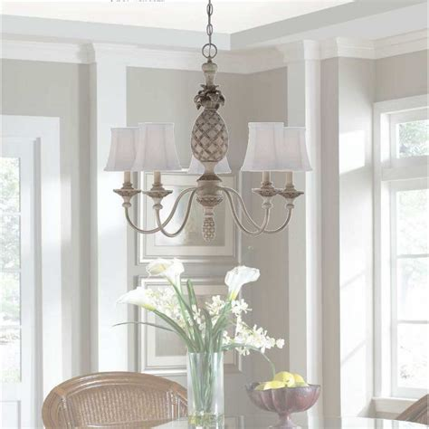 Pineapple Chandelier In Cottage White Cottage Chandeliers
