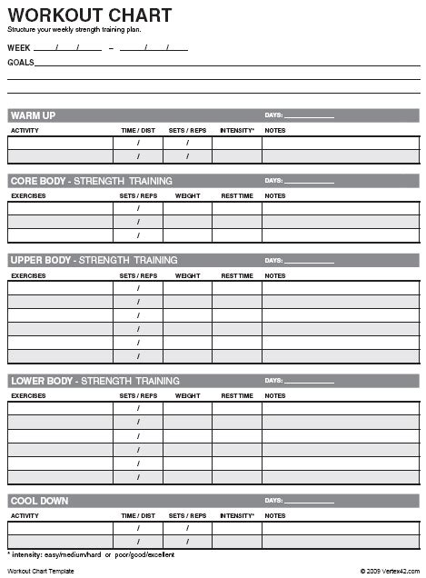 weight lifting template excel work out schedule template