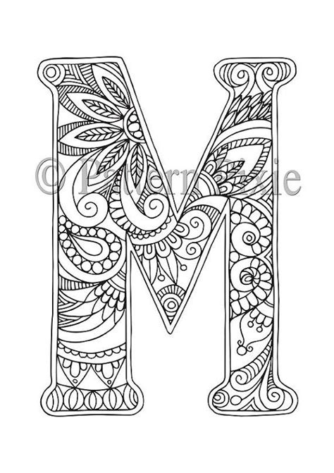 coloring pages for adults letters adult colouring page alphabet letter quot m quot alphabet