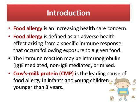 protein allergy cow s milk protein allergy in infants and children