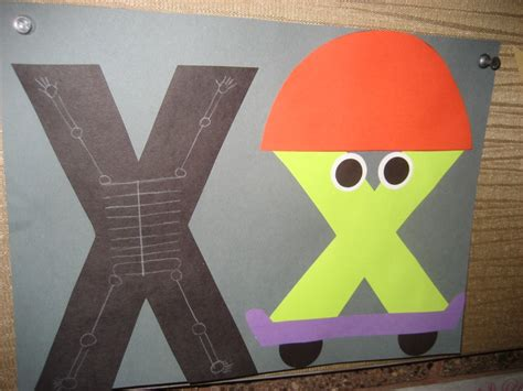project x craft letter x crafts preschool and kindergarten