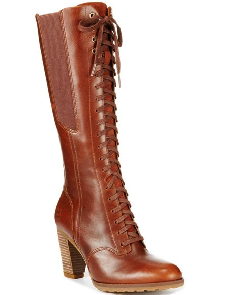lace boots lyst timberland s earthkeepers stratham heights