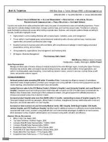Sle Of C V Or Resume by Sle Resume Objective For Sales Representative