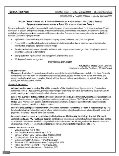 Sample Resume Objective For Sales Representative