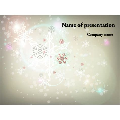 free winter powerpoint template background for