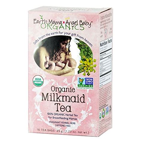 Dijamin Earth Baby Organic Milkmaid Tea 16 Tea Bags 35g organic milkmaid tea to support healthy milk production 16 teabags box pack of 3