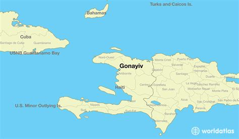 haiti on world map where is gonayiv haiti where is gonayiv haiti located