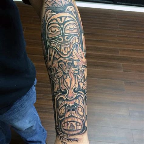 totem pole tattoo 70 totem pole designs for carved creation ink