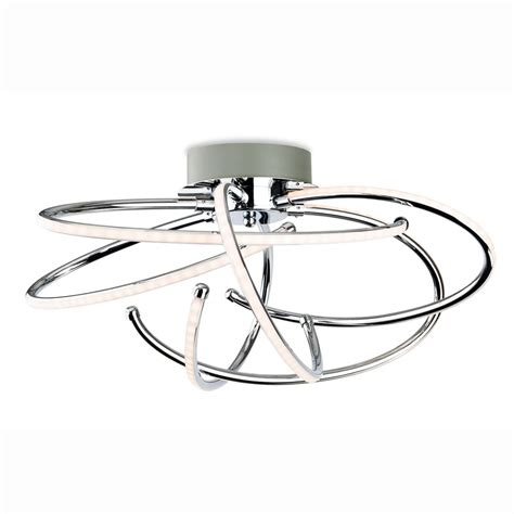 led semi flush ceiling lights firstlight caprice spiral chrome led semi flush ceiling