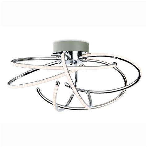 led light fittings firstlight caprice spiral chrome led semi flush ceiling