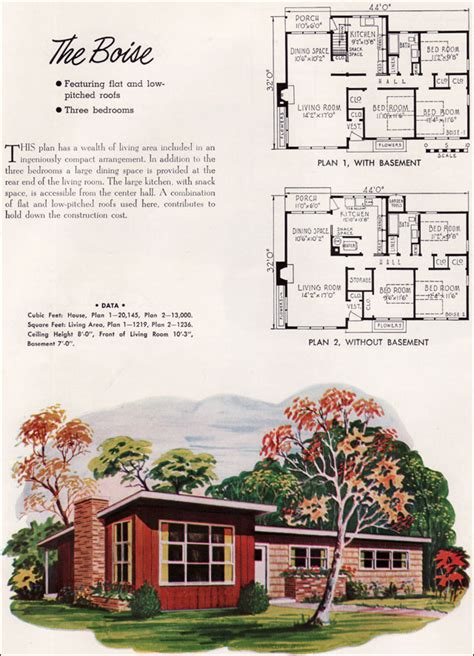 mid century modern small house architecture 1952