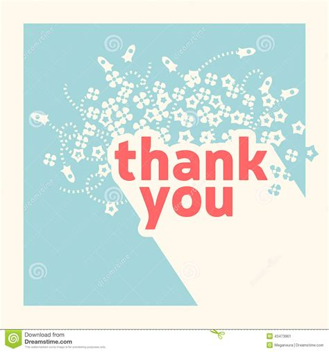 decorate thank you card template thank you card design template stock vector illustration