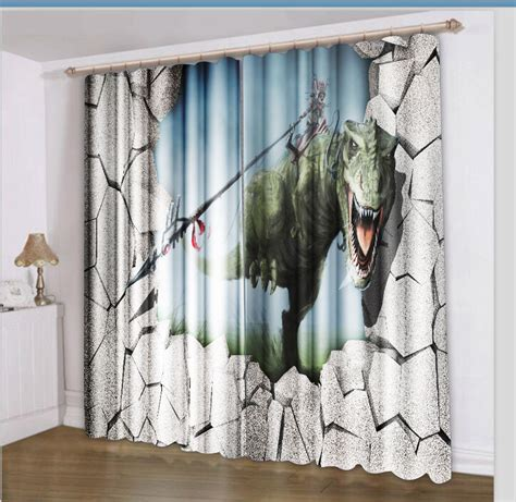 creative curtains 3d dinosaur curtain ideas creative window treatments