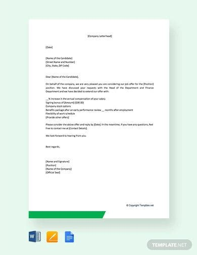 salary letter templates google docs word pages