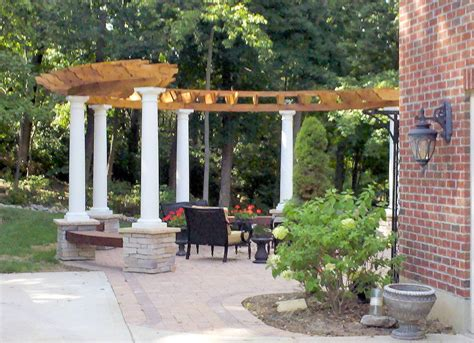 backyard arbors designs curved pergola with built in seats ideas image wood