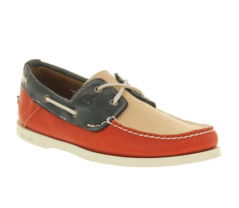 boat shoes office mens timberland tricolour boat shoe red navy white lthr