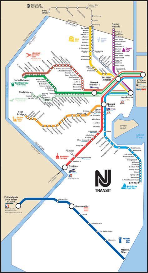 nj transit map tres important travel sources
