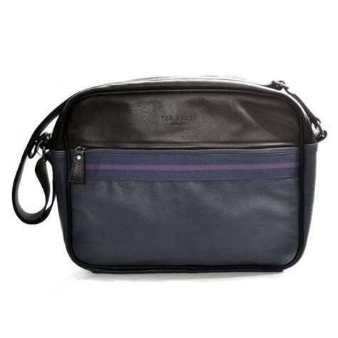 Striped Messenger Tote From Fred Flare by Ted Baker Thebag Stripe Black Messenger Bag