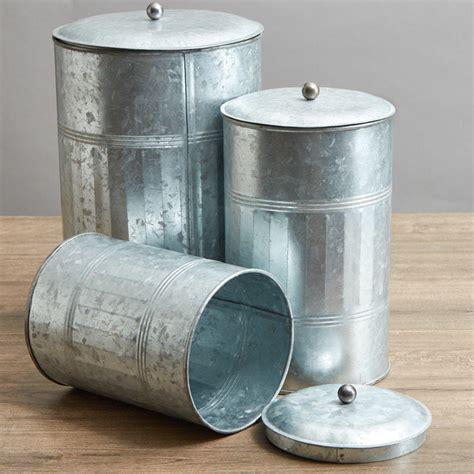 galvanized farmhouse canister set kitchen  bath