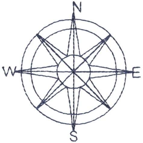 outlines embroidery design compass outline from dakota