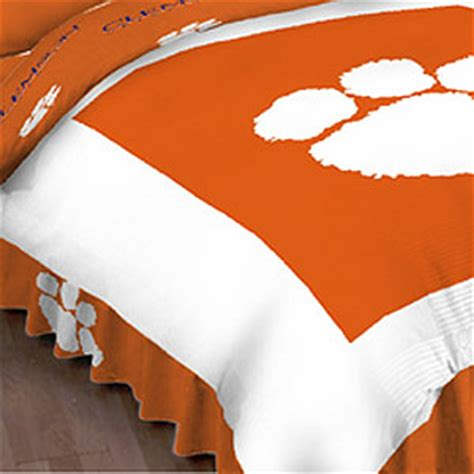 clemson bedding clemson tigers queen bed skirt