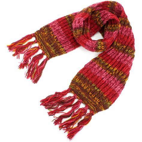 wool scarf chunky knit tassels knitted warm winter