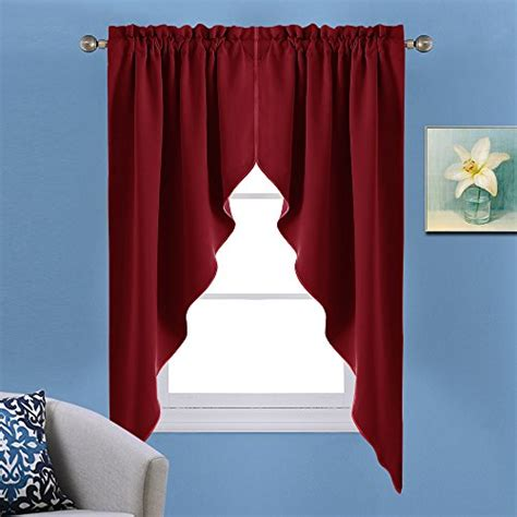 blackout tier curtains nicetown nicetown blackout swag nicetown blackout rod