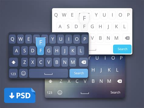 design of keyboard layout ios8 keyboard designs freebies fribly