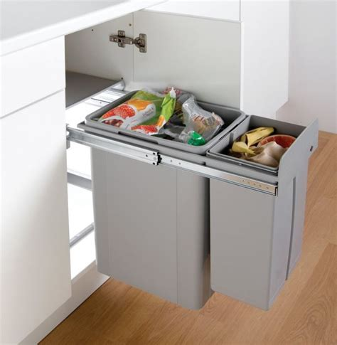 wesco 36l pull out recycler 300mm hinged door