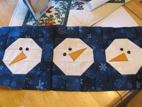 block of the month chilly silly snowman by quilt doodle