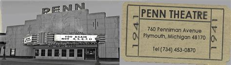 plymouth theater mi penn theatre plymouth michigan