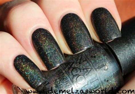 black holographic nail polish opi my private jet opi my private jet demelza s world