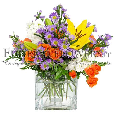 consegna fiori all estero mazzo di arancio e fiorellini glicine spedizione con