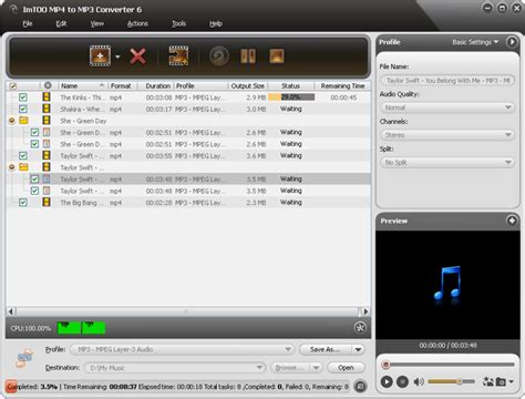 Download Imtoo Mp3 Converter Free   imtoo mp4 to mp3 converter is easy to use