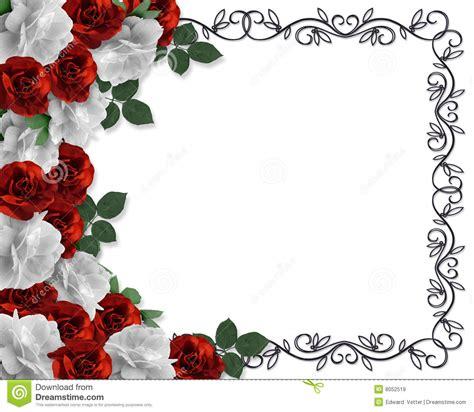 wedding border red roses ornamental royalty free stock