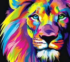 lions colors multi colored beautiful awesome