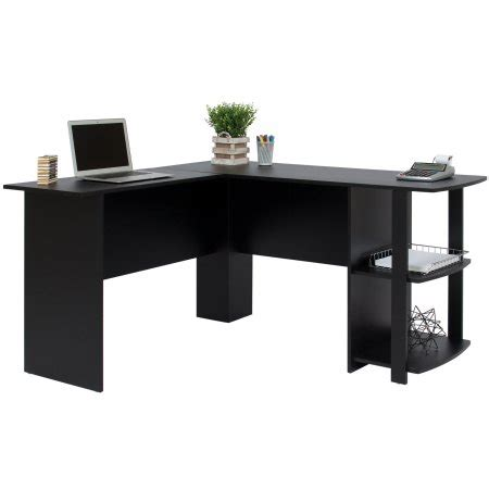 black desk best choice products l shaped corner computer office desk