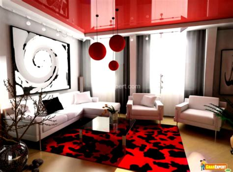 red and black living room modern apartment living room design with neat inspiration