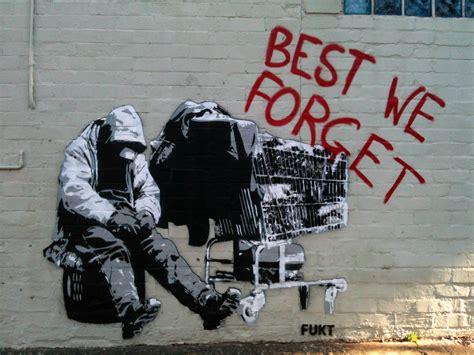 forget homeless stencil  camperdown sydney nsw