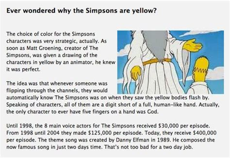 Information About Mat by Interesting Facts About The Simpsons Part 2 Others