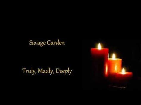 savage garden truly madly deeply lyrics
