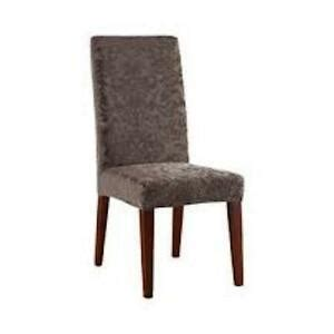 sure fit stretch jacquard damask dining chair cover